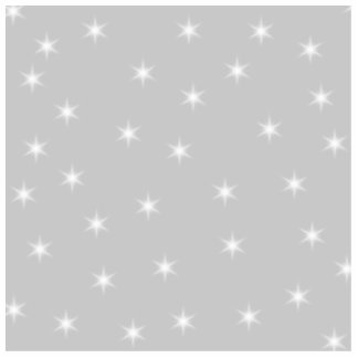 White and Light Gray Star Pattern. Standing Photo Sculpture