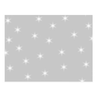 White and Light Gray Star Pattern. Postcard
