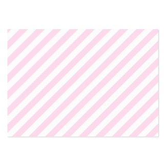 White and Light Pink Stripes Business Card Template