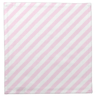 White and Light Pink Stripes. Napkin