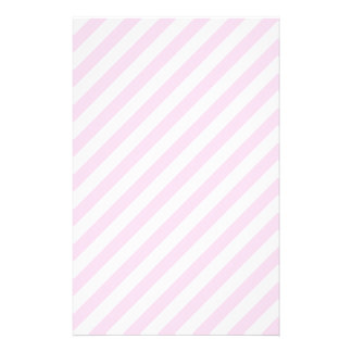 White and Light Pink Stripes. Stationery