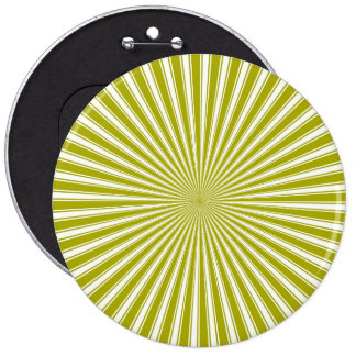 White and Lime Funky Striped Abstract Art Button