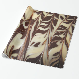 White and Milk Chocolate Swirls Wrapping Paper