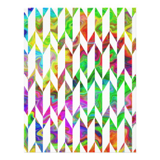 White and Multicolor Abstract Graphic Pattern Full Color Flyer