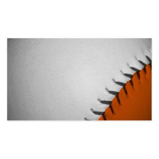 White and Orange Baseball Business Card Templates