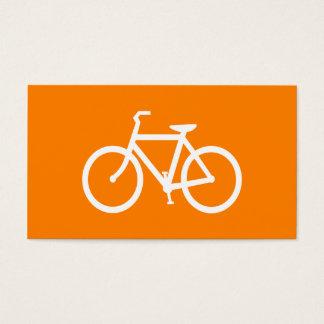 White and Orange Bike Business Card