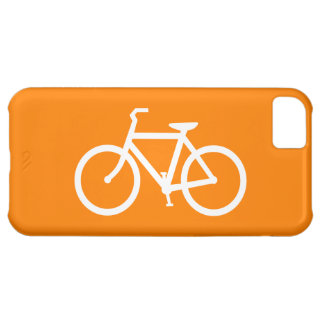 White and Orange Bike iPhone 5C Case