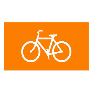 White and Orange Bike Pack Of Standard Business Cards