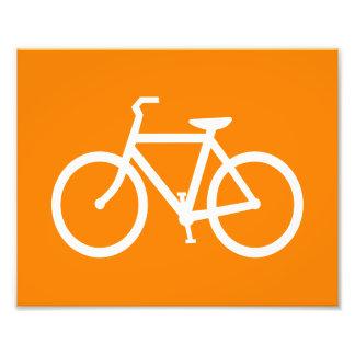 White and Orange Bike Photo Print