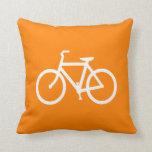 White and Orange Bike Pillow