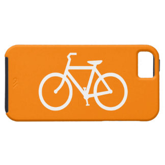 White and Orange Bike Tough iPhone 5 Case