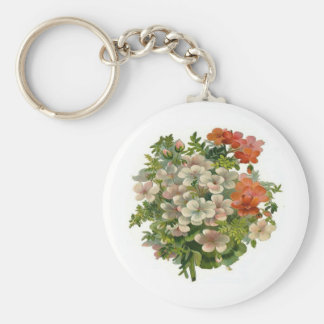 White and Orange Flowers Key Chains