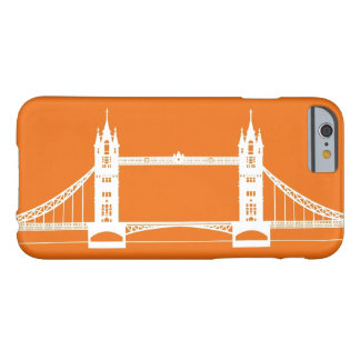 White and Orange London Bridge Silhouette Barely There iPhone 6 Case