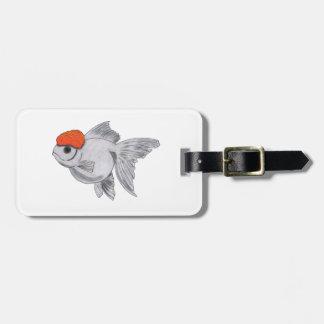 White and Orange Oranda Goldfish Aquarium Pet Fish Luggage Tag