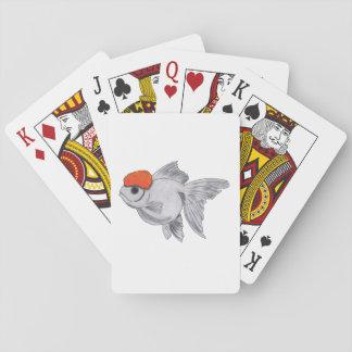 White and Orange Oranda Goldfish Aquarium Pet Fish Poker Deck