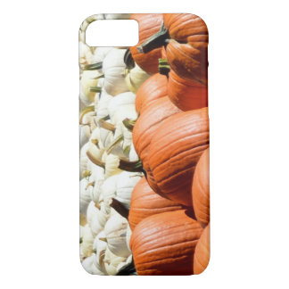 white and orange pumpkin phone case