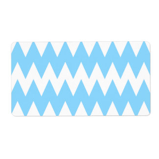 White and Pastel Blue Zigzags.