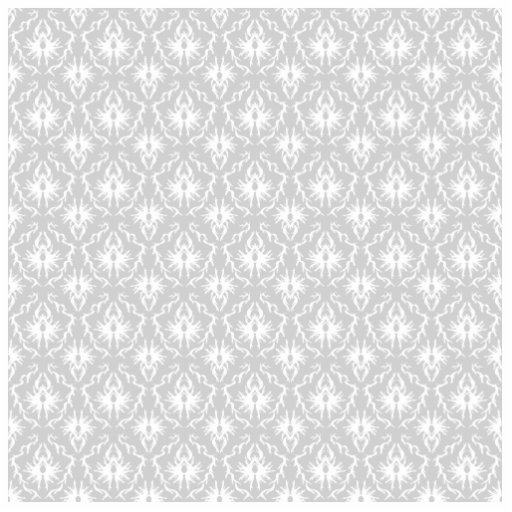 White and Pastel Gray Damask Design. Photo Cut Out