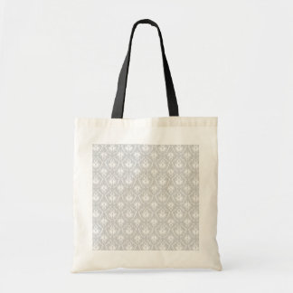 White and Pastel Gray Damask Design. Tote Bag
