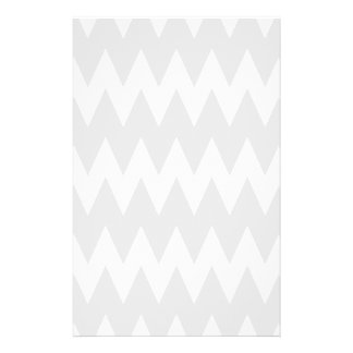 White and Pastel Gray Zigzags. 14 Cm X 21.5 Cm Flyer