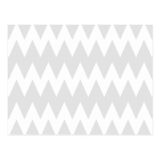 White and Pastel Gray Zigzags. Postcard