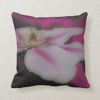 White And Pink Clematis Flower Cushions