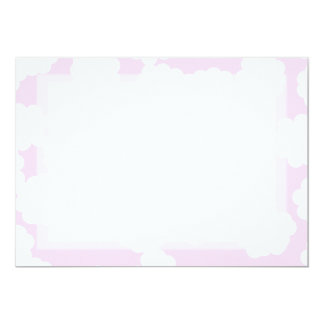 White and Pink Clouds Pattern. 13 Cm X 18 Cm Invitation Card
