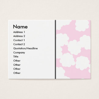 White and Pink Clouds Pattern. Business Card