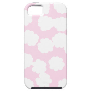 White and Pink Clouds Pattern. iPhone 5 Cover