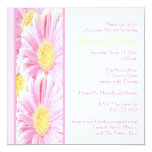 White and Pink Gerberas Couples Shower Invitation