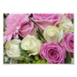 White and Pink Roses Photo Print Photo Art