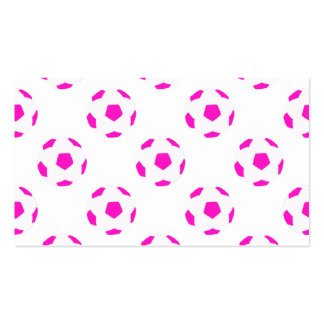 White and Pink Soccer Ball Pattern Pack Of Standard Business Cards