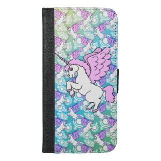 White and Pink Unicorn iPhone 6/6s Plus Wallet Case