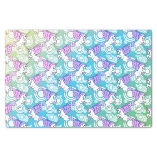 White and Pink Unicorn Tissue Paper