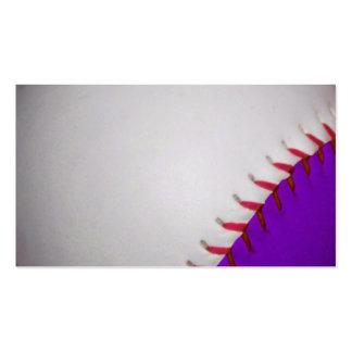 White and Purple Baseball Softball Business Cards