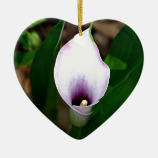 White and Purple Calla Lily Christmas Ornament