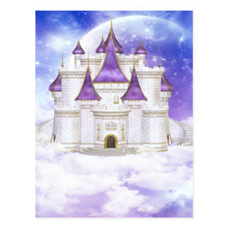 White and Purple Castle Postcard