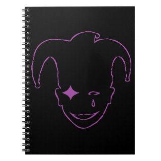 White And Purple MTJ Spiral Notebook