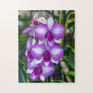 White and purple orchids photo puzzle