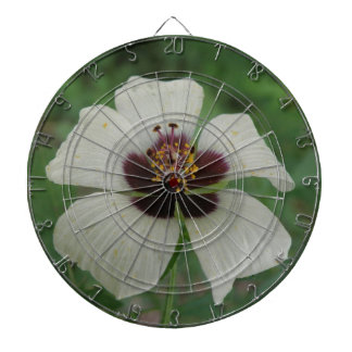 White and Purple Passionflower Dart Board