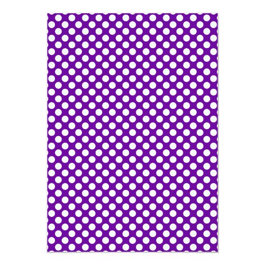 White and Purple Polka Dots Card