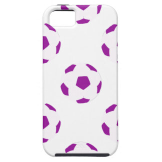 White and Purple Soccer Ball Pattern iPhone 5 Cover