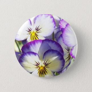 White and Purple Violas Button