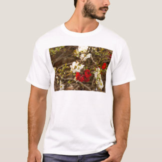 White and Red Blossoms T-Shirt