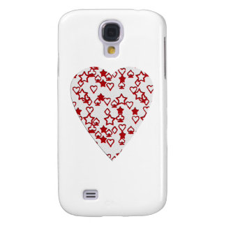 White and Red Heart. Perned Heart Design. Galaxy S4 Case