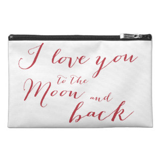 White And Red I Love You Travel Accessory Bag