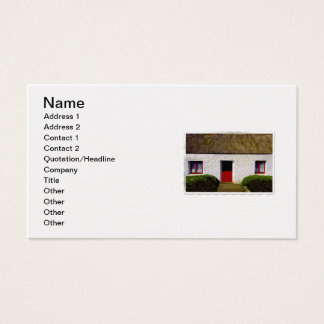 White and Red Irish Cottage Business Card