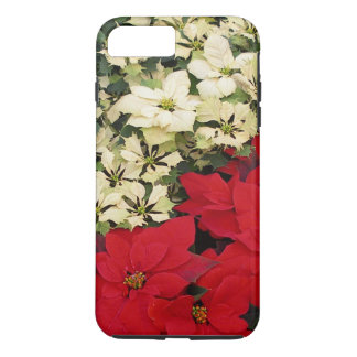 White and Red Poinsettias I Holiday + Christmas iPhone 7 Plus Case
