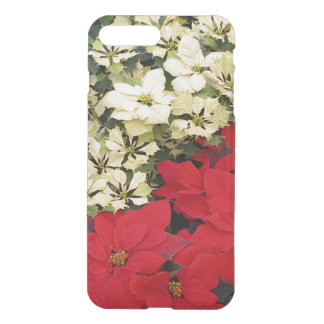 White and Red Poinsettias I Holiday Floral iPhone 8 Plus/7 Plus Case