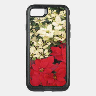 White and Red Poinsettias I Holiday Floral OtterBox Commuter iPhone 8/7 Case